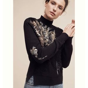 ⬇️ SALE - Knitted Knotted Beaded Fete Turtleneck